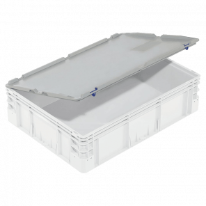 Scharnierend deksel transport krat - 800x600 mm - KKP-023