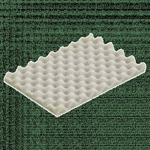 Schuim interieur bodem 256x157x20 mm - kunststof kratten - KKP-046
