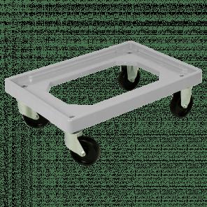 Dolly 600x400x175 mm - pp bokwielen - zachte ondergrond - KKP-057