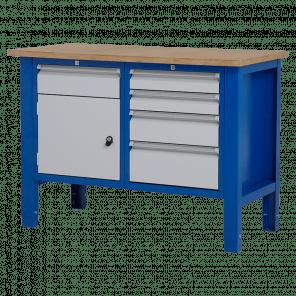 Werktafel - laden & deur - 124x62x85-90 cm - BWP-204