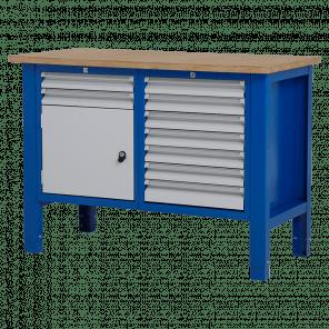 Werktafel - laden & deur - 124x62x85-90 cm - BWP-205
