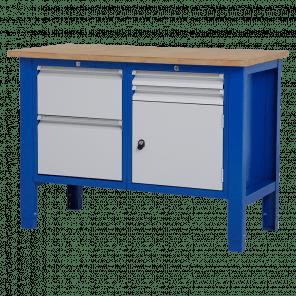 Werktafel - laden & deur - 124x62x85-90 cm - BWP-206
