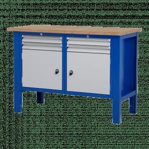 Werktafel - laden & deur - 124x62x85-90 cm - BWP-207