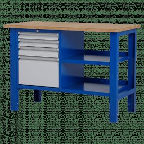 Werktafel - laden & legbord - 124x62x85-90 cm - BWP-209
