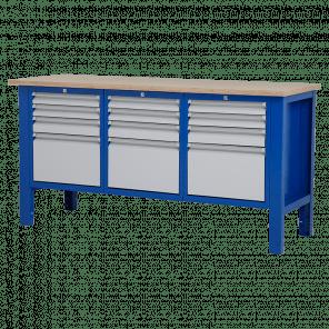 Werktafel - laden - 176.5x62x85-90 cm - BWP-303