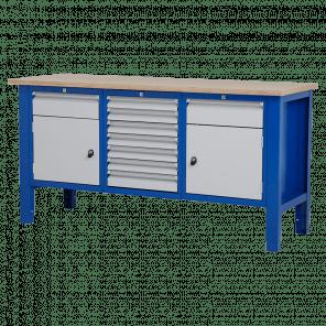 Werktafel - laden & deur - 176.5x62x85-90 cm - BWP-304