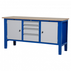 Werktafel - laden & deur - 176.5x62x85-90 cm - BWP-305
