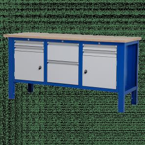 Werktafel - laden & deur - 176.5x62x85-90 cm - BWP-306