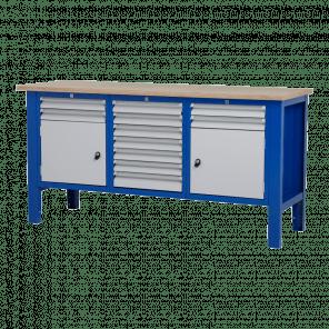 Werktafel - laden & deur - 176.5x62x85-90 cm - BWP-307