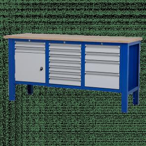 Werktafel - laden & deur - 176.5x62x85-90 cm - BWP-308