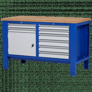 Werkbank - laden & deur - 140x70x85-90 cm - PWP-203