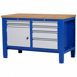 Werkbank - laden & deur - 140x70x85-90 cm - PWP-204