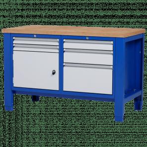 Werkbank - laden & deur - 140x70x85-90 cm - PWP-205