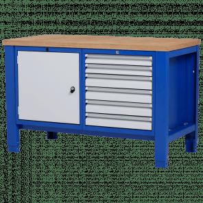 Werkbank - laden & deur - 140x70x85-90 cm - PWP-206