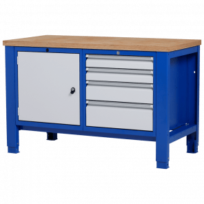 Werkbank - laden & deur - 140x70x85-90 cm - PWP-207