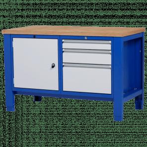 Werkbank - laden & deur - 140x70x85-90 cm - PWP-208