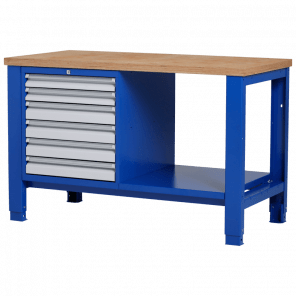 Werkbank - laden & legbord - 140x70x85-90 cm - PWP-215