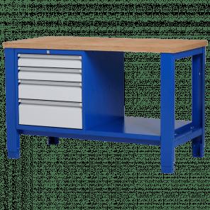 Werkbank - laden & legbord - 140x70x85-90 cm - PWP-216