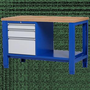 Werkbank - laden & legbord - 140x70x85-90 cm - PWP-217