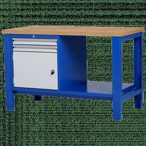 Werkbank - laden & deur & legbord - 140x70x85-90 cm - PWP-218