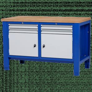 Werkbank - laden & deur - 140x70x85-90 cm - PWP-221