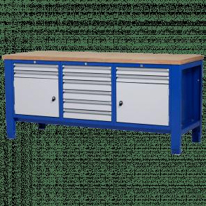 Werkbank - laden & deur - 200x70x85-90 cm - PWP-303