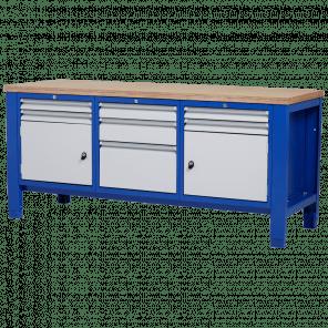 Werkbank - laden & deur - 200x70x85-90 cm - PWP-304