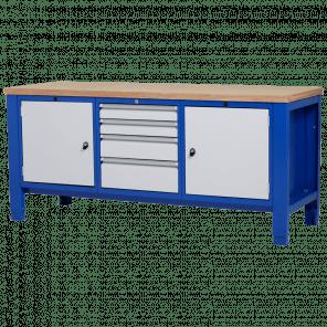 Werkbank - laden & deur - 200x70x85-90 cm - PWP-306