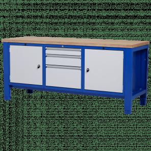 Werkbank - laden & deur - 200x70x85-90 cm - PWP-307