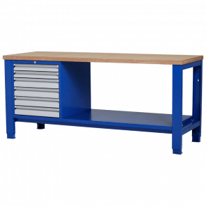 Werkbank - laden & legbord - 200x70x85-90 cm - PWP-320