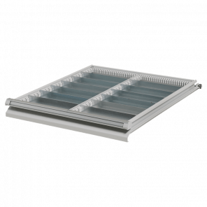 Stalen ladeverdeling werkbank - 14 vaks - 50 mm hoog - PWP-021