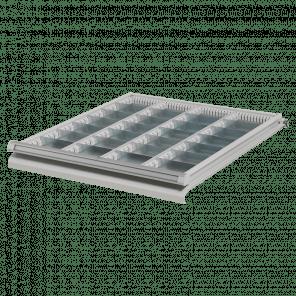 Stalen ladeverdeling werkbank - 28 vaks - 50 mm hoog - PWP-029