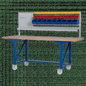Werkbank opzetstuk - gereedschapsbord & bakken - 200x70 cm - IWP-009