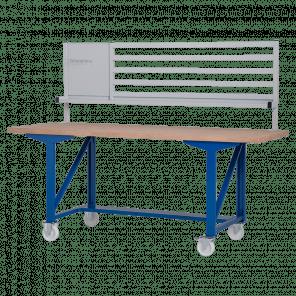 Werkbank opzetstuk - gereedschapsbord & ophangstrippen - 200x70 cm - IWP-011