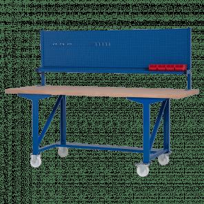 Werkbank opzetstuk - gereedschapsbord - 200x70 cm - IWP-010