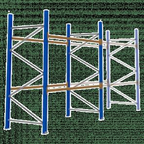 Palletstelling 300x270x113 cm - 2 niveaus - basismodel - PSP-101