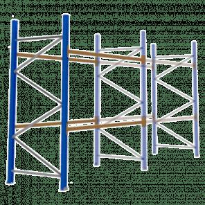 Palletstelling 300x270x113 cm - 2 niveaus - aanbouwmodel  - PSP-102