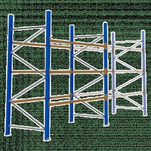 Palletstelling 300x270x113 cm - 3 niveaus - basismodel - PSP-103