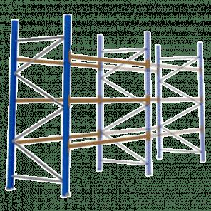 Palletstelling 300x270x113 cm - 3 niveaus - aanbouwmodel - PSP-104
