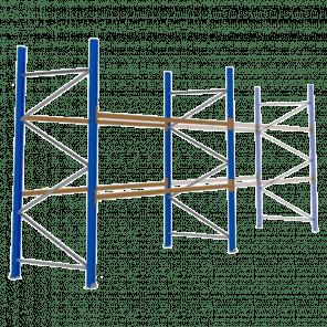 Palletstelling 300x360x113 cm - 2 niveaus - basismodel - PSP-105