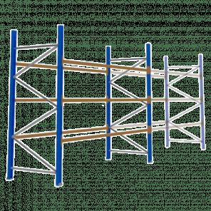 Palletstelling 300x360x113 cm - 3 niveaus - basismodel - PSP-107