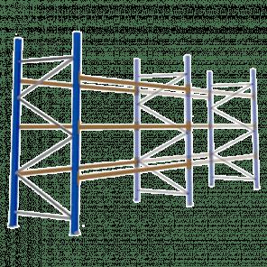 Palletstelling 300x360x113 cm - 3 niveaus - aanbouwmodel - PSP-108