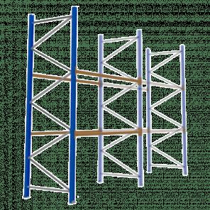 Palletstelling 400x270x113 cm - 2 niveaus - aanbouwmodel - PSP-110
