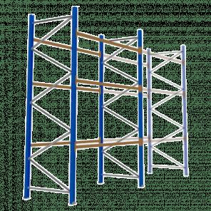 Palletstelling 400x270x113 cm - 3 niveaus - basismodel - PSP-111
