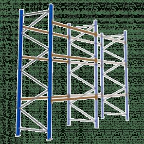 Palletstelling 400x270x113 cm - 3 niveaus - aanbouwmodel - PSP-112