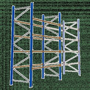 Palletstelling 400x270x113 cm - 4 niveaus - basismodel - PSP-113