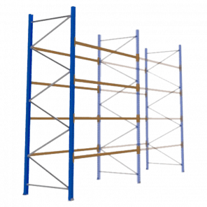 Palletstelling 400x270x113 cm - 4 niveaus - aanbouwmodel - PSP-114