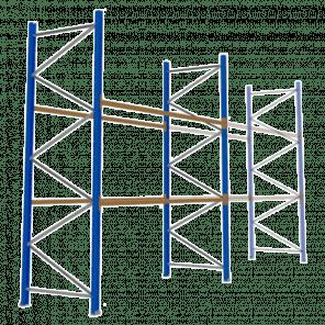 Palletstelling 400x360x113 cm - 2 niveaus - basismodel - PSP-115