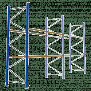 Palletstelling 400x360x113 cm - 2 niveaus - aanbouwmodel - PSP-116