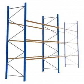 Palletstelling 400x360x113 cm - 3 niveaus - basismodel - PSP-117